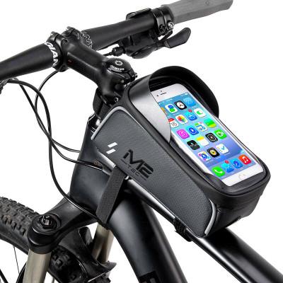 Soporte de móvil para bicicleta con bolsa