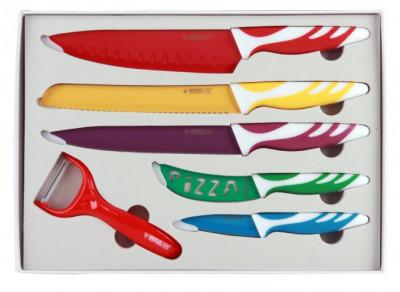 Pack de cuchillos con revestimiento cerámico