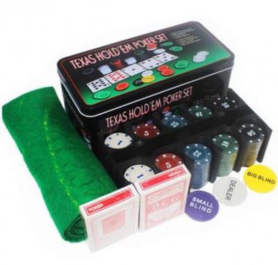 Set de juego de Póker Texas Hold'em